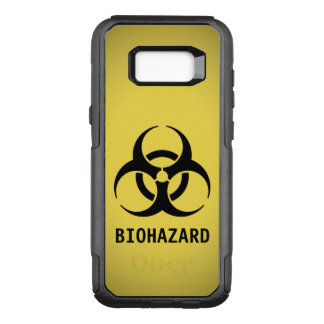 Black Biohazard Symbol on Yellow OtterBox Commuter Samsung Galaxy S8+ Case