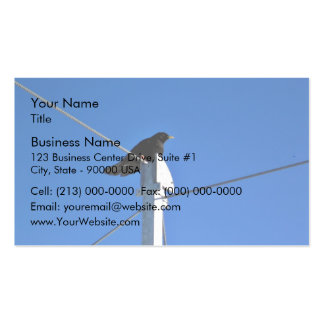 Black bird on a post business card