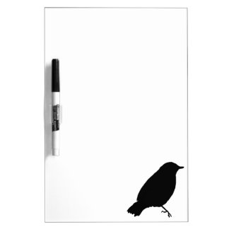 Black Bird Silhouette Unique Gift Present Dry Erase Board