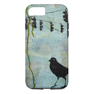 "Black Bird with Stoplight ""eccentric caricature"" iPhone 7 Case"