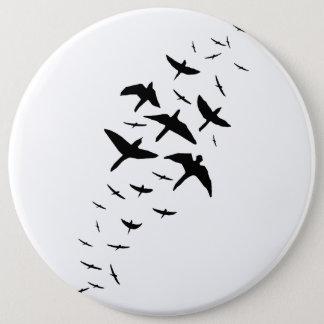 Black Birds 6 Inch Round Button