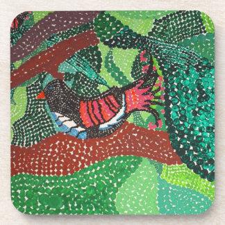 Black Birds and Emeralds Beverage Coasters