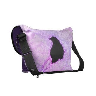Black Birds in a Purple Haze Commuter Bags