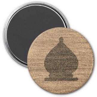 Black Bishop - Zero Gravity Chess (Cloth Bg) 3 Inch Round Magnet