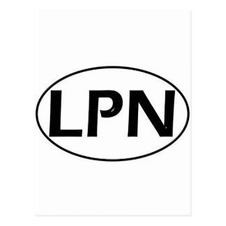 Black Black LPN Postcard