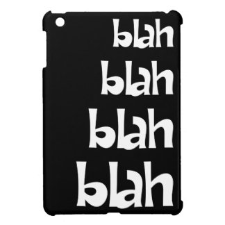 Black Blah Blah Blah Statement iPad Mini Case