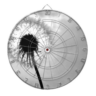 Black blank dandelion Black and White Dandelion Dart Board