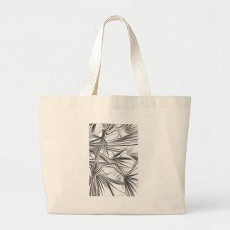 Black blank prints Black White prints plant Large Tote Bag