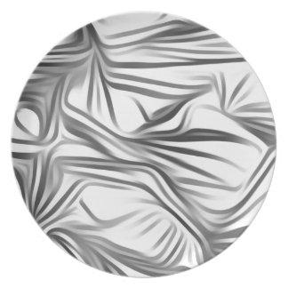 Black blank prints Black White prints plant Plate