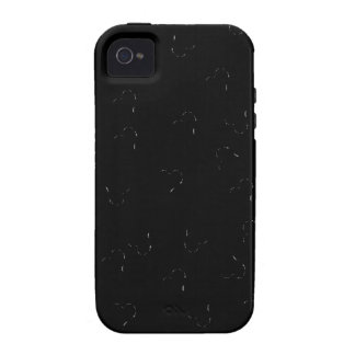 Black Blending Mini Hearts Case-Mate iPhone 4 Case