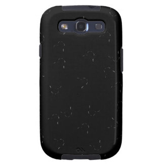 Black Blending Mini Hearts Galaxy SIII Cases