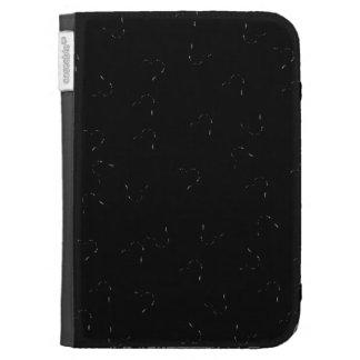Black Blending Mini Hearts Kindle Keyboard Covers