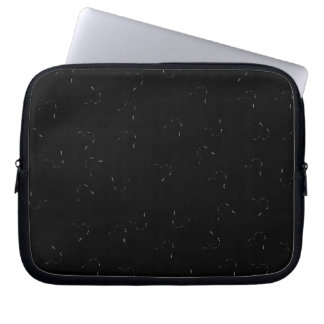 Black Blending Mini Hearts Laptop Computer Sleeves