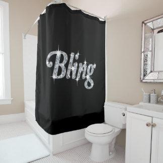 Black Bling Design Shower Curtain