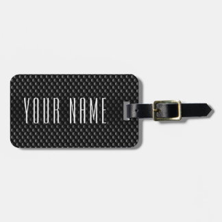 Black block mesh luggage tag