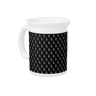 Black block mesh pitcher