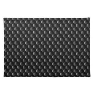 Black block mesh placemat