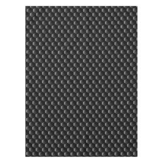 Black block mesh tablecloth