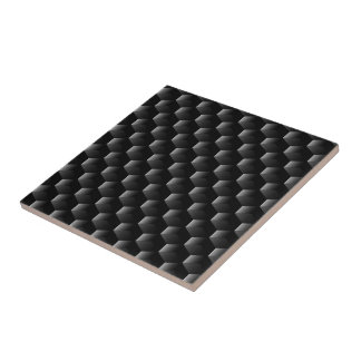 Black block mesh tile