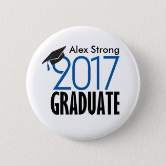 Black & Blue 2017 Graduate Pinback Button