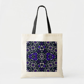 Black Blue Abstract Budget Tote Bag