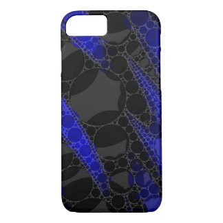 Black Blue Abstract iPhone 7 Case