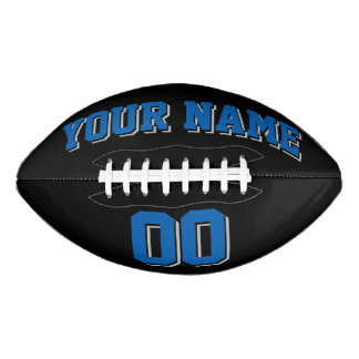 BLACK BLUE AND SILVER GRAY Custom Football