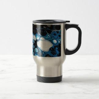 Black & Blue Bubbles Travel Mug