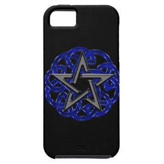 Black & Blue Celtic Pentagram Case For The iPhone 5