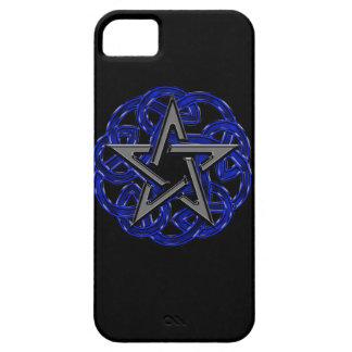 Black & Blue Celtic Pentagram iPhone 5 Cover