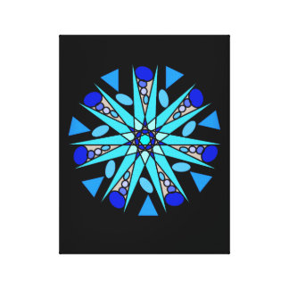 Black Blue Cosmic Geometric Star Print