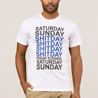 Black-blue Days of the week T-Shirt