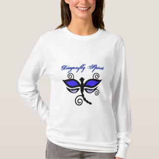 Black & blue digital dragonflies & swirls shirt