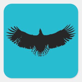 Black & Blue Eagle Silhouette Artwork Sticker