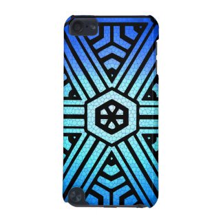 Black & Blue Geometric Pattern iPod Touch (5th Generation) Covers