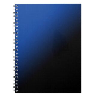 Black & Blue Gradient Spiral Notebook