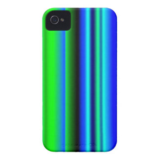 Black blue green strips iPhone 4 cover