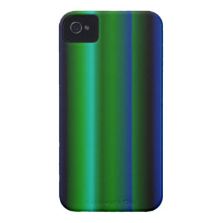 Black blue green strips iPhone 4 covers