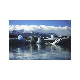Black & Blue Icebergs, Iceland Canvas Print