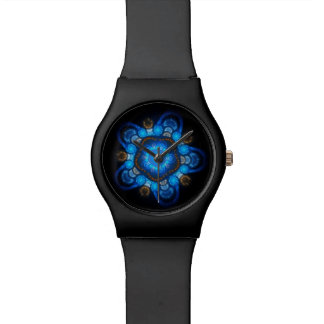 Black Blue Jelly Fish Unisex Customizable Watch