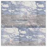 Black & Blue Marble Cotton Fabric