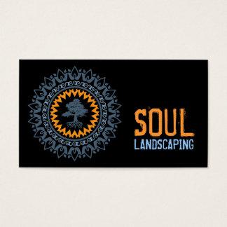 Black Blue Orange Soul Bonzai Tree Business Card