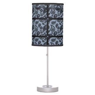 black blue paisley decorative lamp shade