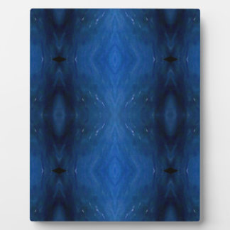 Black Blue Personalizable Pattern For Guys Plaque