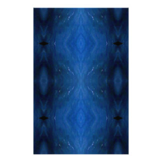 Black Blue Personalizable Pattern For Guys Stationery