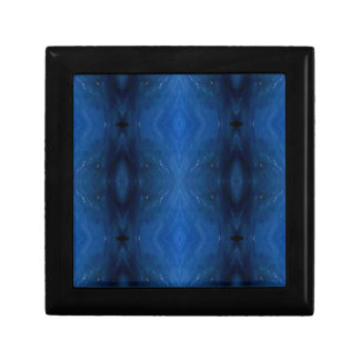 Black Blue Personalizable Pattern For Guys Trinket Boxes