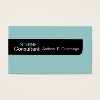 Black Blue Plain Masculine Minimal design Business Card