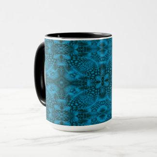 Black & Blue Vintage Kaleidoscope   Combo Mug