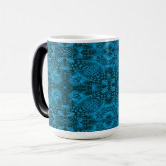 Black & Blue Vintage Kaleidoscope  Morphing Mug