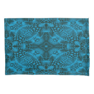 Black & Blue Vintage Kaleidoscope  Pillowcases